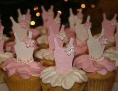 Ballerina cupcake toppers!