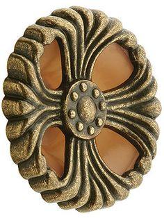 "Cabinet Knobs. Bakelite & Zinc Deco Era Knob - 2"" Diameter"