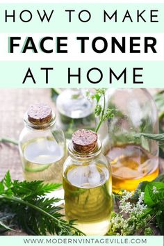 Homemade face toners can be easily made at home with very common ingredients. They are natural, organic and target any skin issue you have. Homemade Face Toner, Homemade Deodorant, Toner For Face, Skin Toner, Facial Toner, Facial Skin Care, Diy Skin Care, Facial Masks, Homemade Rose Water