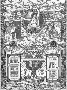 Legend of Zelda The Three Goddesses of Hyrule by barrettbiggers