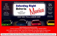 Drive In Movie Series Coming to Bedford County - Bedford County Chamber of Commerce Large Suv, The Bedford, Ticket Holders, Ticket Sales, Night Driving, Movie Titles, Chamber Of Commerce, 10 Year Old