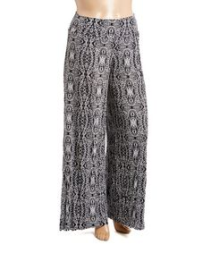 Look what I found on #zulily! Black & White Palazzo Pants - Plus #zulilyfinds