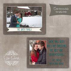 5x7 Christmas Card PSD Template