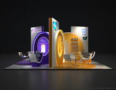 Nutricia - Aptamil - Bebelac  Fuar ve Medikal Kongre Standı Tasarımı / Exhibition Booth Stand Design 6x6