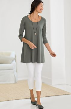 Misses > Pure Jill ballet-sleeve tunic at J.Jill