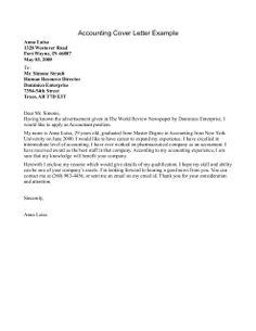 Accounting Job Cover Letter Sample Cover Letters Bestcoverletter On Pinterest