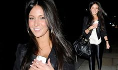 She's still sexy when covered up: Michelle Keegan shows off her pins in tight disco pants as she heads out for dinner
