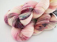 Secret Garden / Hand Dyed Speckled Yarn / by AstraeaMeris on Etsy