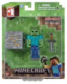 Minecraft Core Zombie Action Figure with Accessory