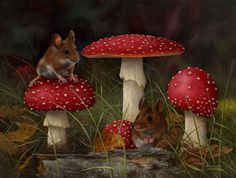 toadstools paintings - Google Search
