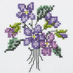 Violet Posy Free Cross Stitch Chart