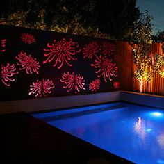 Back to Light Features The magnificent and very popular Waratah Design by Lump Sculpture Studio can be configured to suit almost any Light Feature Panel size.  Sizes: 1900 x 680 x 240 mm (per panel) Custom sizes available  Thickness: 0.9 mm, 1.6 mm and 3 mm (Aluminium)  Weight: 45kg (per panel) approx  Materials: Copper, Corten Steel, Aluminium and Stainless Steel  Lighting: low