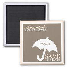 Umbrella Baby Shower Save the Date Magnets Fridge Magnets