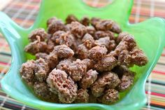 Cinnamon Sugar Almonds. An easy, delicious homemade treat - only four ingredients - almonds, sugar, cinnamon, and water - and they come together in 20 minutes. A great homemade gift idea!