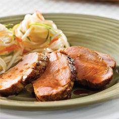 Filets de porc marinés à l'asiatique Bbq Grill, Grilling, Barbecue, Asian Recipes, Ethnic Recipes, Filets, Baked Potato, Quinoa, Recipies