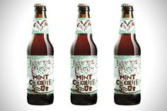 mint chocolate beer - Craft beer has been on the rise recently and people are on the lookout for uniquely flavored beers such as this chocolate mint beer from Flying Dog...
