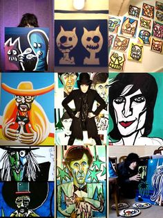 I wish I lived in the UK so I could go to one of Noel Fielding's art galleries!