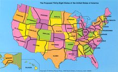 The Map With Only 38 States {from a revisionist or revolutionary}