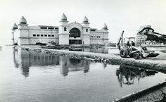 (Salt Lake Tribune archives)Saltair Resort during the flood of 1983.