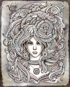"""Zodiac illustration """"VIRGO"""" by balabolka , via Behance"""