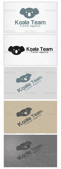 Koala Team Logo  #GraphicRiver         Re sizable   Vector EPS and Ai   PSD 5208*3125