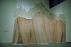 carlie trosclair- fabric installation, its so beautiful Stage Design, Set Design, Conception Scénique, Writing Inspiration, Design Inspiration, Fabric Installation, Art Installations, Design Textile, Curtain Call