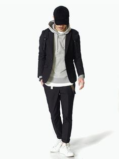 LOUNGE LIZARDSessionLoungeLizardさんのテーラードジャケット「SUPIMA 80/2 OXFORD 2Bジャケット」(LOUNGE LIZARD|ラウンジリザード)を使ったコーディネートです。
