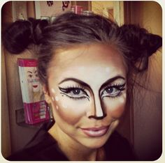 Halloween deer makeup cute! Www.flawlessbeautybars.com  Our makeup artist are ready to complete your costume look with the perfect makeup application.
