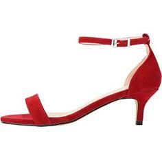 Zbeibei Women's Thin Mid Heels Open Toe Summer Shoes Buckle Up Sandals - £23.69