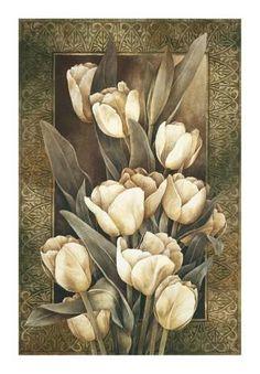 Tangletown Fine Art Golden Tulips by Linda Thompson Fine Art Giclee Print on Gallery Wrap Canvas, 19 Canvas Wall Art, Wall Art Prints, Fine Art Prints, Plant Drawing, Flower Wall Decor, Cross Paintings, Arte Floral, Detail Art, Flower Art