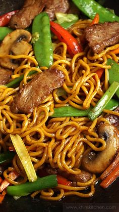 Chinese Noodle Recipes, Easy Chinese Recipes, Asian Recipes, Chinese Chow Mein Noodles Recipe, Beef Lo Mein Noodles Recipe, Chinese Food Dishes, Easy Lo Mein Noodles, Fried Noodles Recipe, Best Lo Mein Recipe