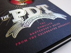 PDT · Cocktail Book by Chris Gall, via Behance