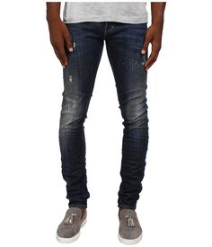 DSQUARED2 DSQUARED2 - MIDNIGHT THUNDER SLIM JEANS (BLUE) MEN'S JEANS. #dsquared2 #cloth #