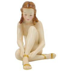 Goldscheider Vienna Female Nude, Art Deco Sculpture, Austria 1930s | From a unique collection of antique and modern sculptures at https://www.1stdibs.com/furniture/decorative-objects/sculptures/
