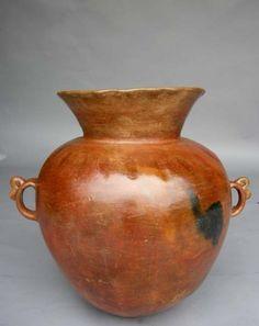 1-287-Antique ceramic florero – Guatemala 26Dx24H
