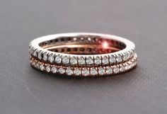 Perfect.... 14k Gold Eternity Band Micro Pave CZ, Stackable Ring