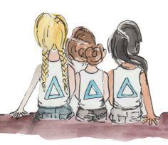 Delta Gamma Crafts, Kappa Kappa Gamma, Alpha Sigma Alpha, Tri Delta, Delta Zeta, Sorority Life, Sorority Shirts, Pi Beta Phi, Greeks