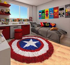 marvel bedroom ideas 22 Spectacular Superhero Bedroom Ideas for Kids Boys Bedroom Decor, Girls Bedroom, Kid Bedrooms, Marvel Boys Bedroom, Bedroom Red, Boy Bedroom Designs, Superhero Room Decor, Boy Toddler Bedroom, Childs Bedroom