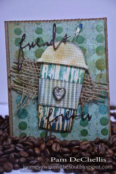 Tim Holtz Fresh Brewed coffee card
