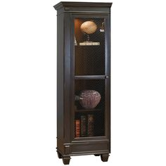 "Two-Tone Left Facing Half Bookcase - 75.5""H"