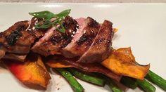 Gabbi's Favourite by Gabrielle  Teriyaki glazed duck breast with sweet potato and fresh asparagus