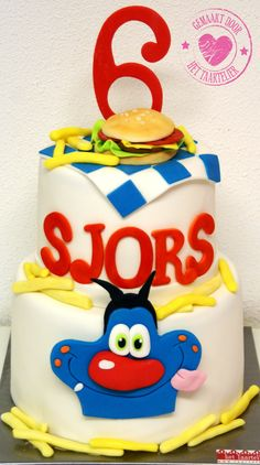 Oggy and the Cockroaches birthday cake www.taartelier.nl
