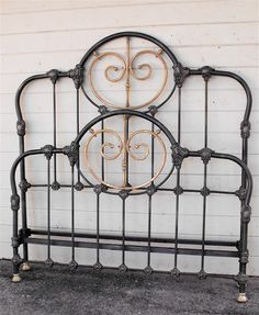 Here are but a few of the many antique beds we've come across. Rod Iron Beds, Cast Iron Beds, Headboard Makeover, Iron Headboard, Painted Iron Beds, Shabby Chic Headboard, Antique Iron Beds, Victorian Irons, Cute Apartment