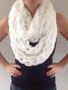 Arm Knit Scarf Step By Step In 30 Minutes Video Tutorial   The WHOot