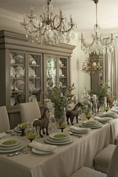 This fabulous dining setting just reeks of romance and beauty, John Jacob