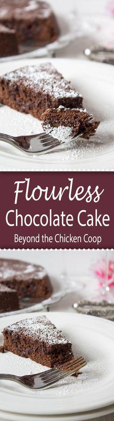 Rich and decadent Flourless Chocolate Cake