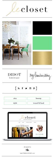 Blog Design Branding: Le Closet; designed by @Kelly Teske Goldsworthy