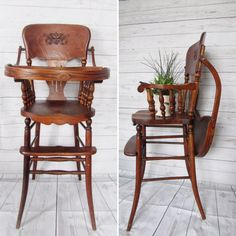 Antique Wooden High Chairs Antique 1930s Wood High