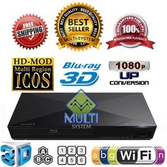 Sony BDP-S5200 WIFI 2D 3D Multi Zone All Region Free DVD and Blu-Ray Disc Player #Sony