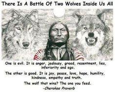 - Cherokee Proverb -